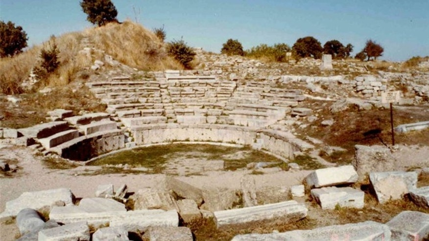 An amphitheater of Troy, the ancient city where archaeologists plan to dig beginning the summer of 2013.