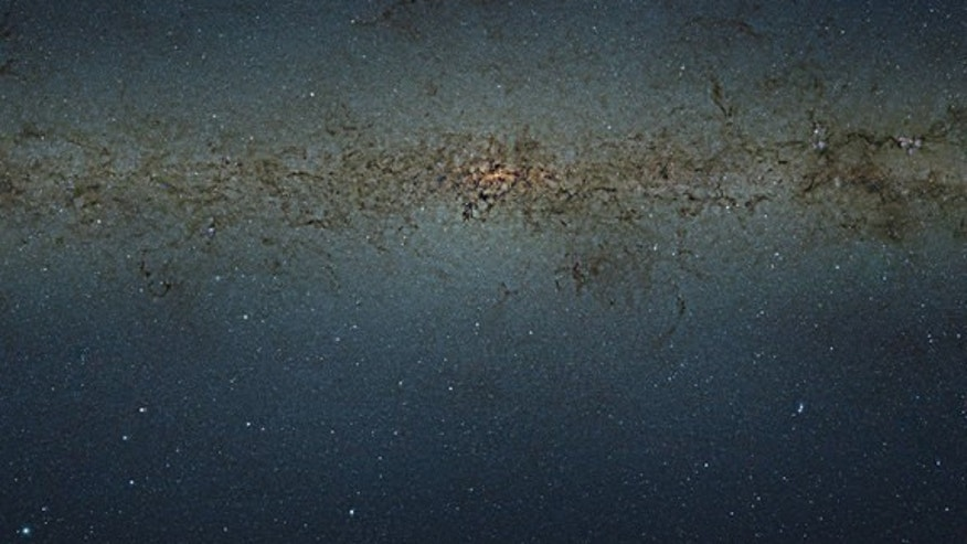 This view of the central parts of the Milky Way was obtained with the VISTA survey telescope at ESO's Paranal Observatory in Chile. The huge picture contains nearly nine billion pixels and was created by combining thousands of individual infrar