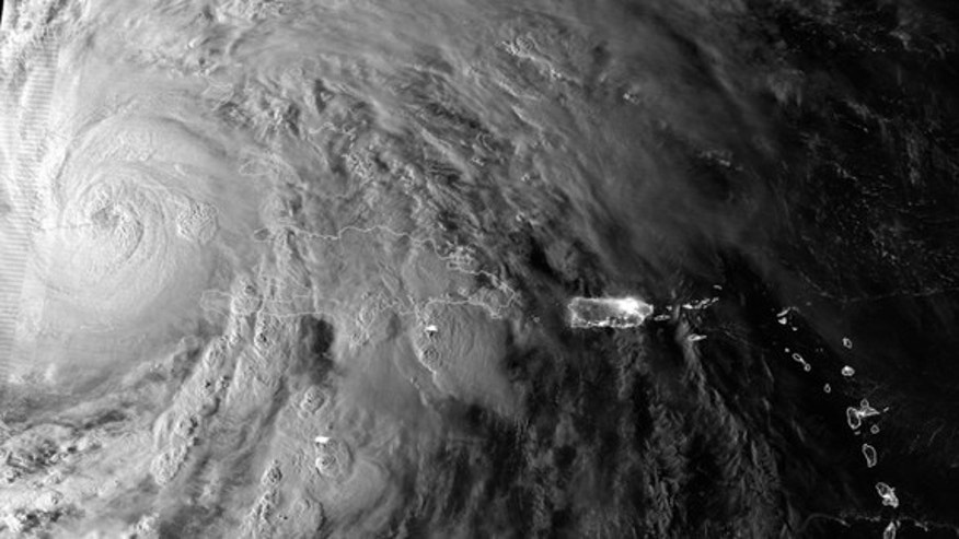 The Suomi NPP satellite caught this image of Hurricane Sandy yesterday morning (Oct. 25), just as the cyclone passed over Cuba.