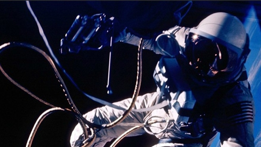 Ed White makes the United States' first spacewalk on 3 June 1965.
