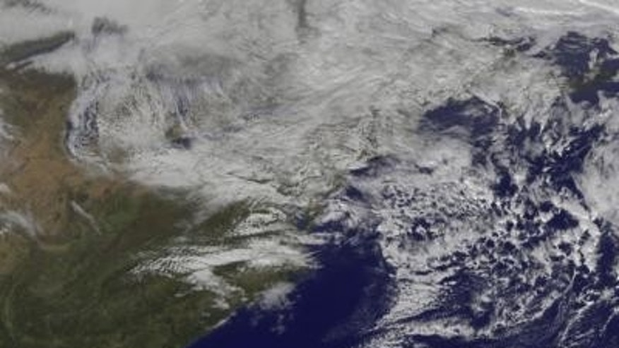 This visible image from NOAA's GOES-13 satellite shows the remnant clouds from Sandy at 1:31 p.m. EDT on Nov. 2, 2012.