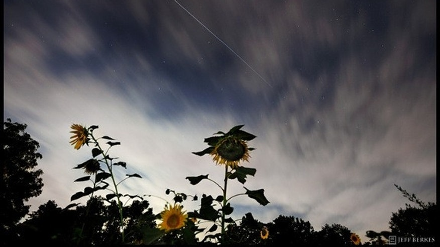 Photographer Jeff Berkes caught the International Space Station over West Chester, Pennsylvania, on August 13, 2011.