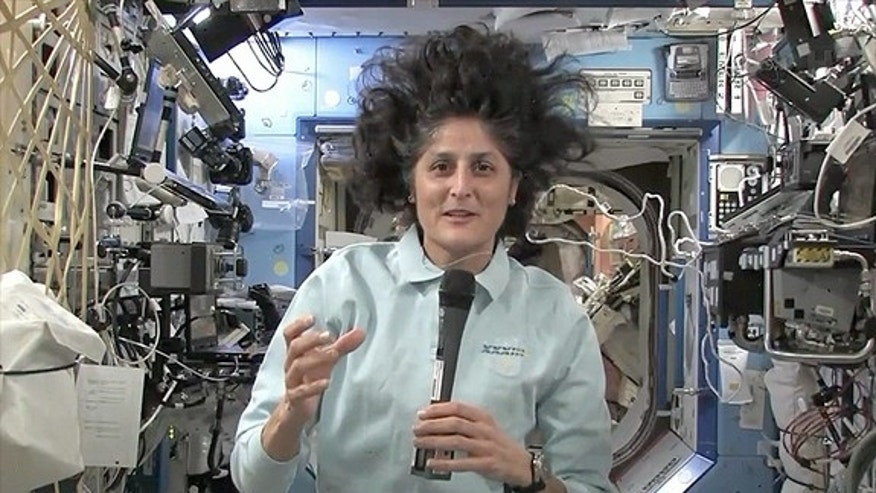 "Expedition 33 commander Sunita ""Suni"" Williams takes part in an interview with collectSPACE.com from on board the International Space Station on Oct. 19, 2012."