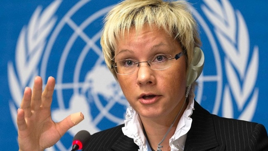 Nov. 20, 2012: Oksana Tarasova, Scientific Officer at the World Meteorological Organization, WMO, informs the media about greenhouse gases in the atmosphere.