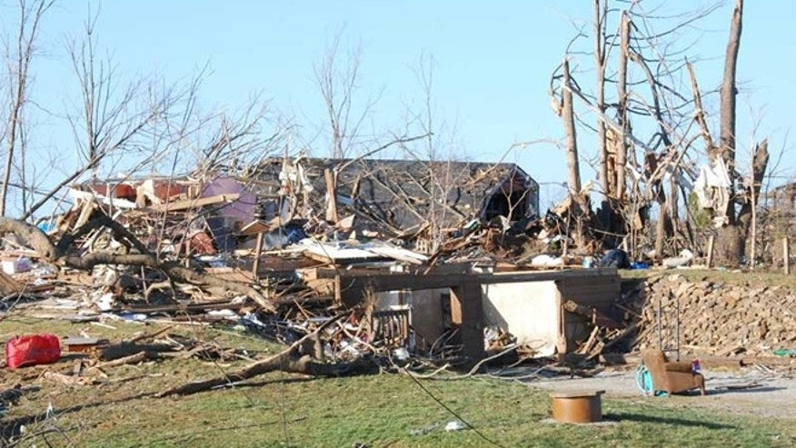 Tornado damage in Henryville, Ind., after a tornado swept through the small community on March 2, 2012. There have been fewer tornadoes this year than most.