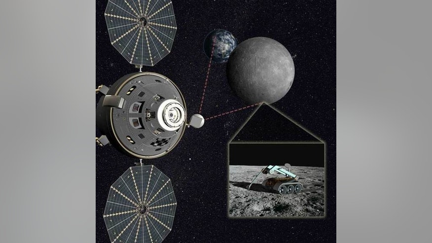 The L2-Farside Mission, a mission to the moon's far side depicted here, is being championed by builder of the Orion spacecraft, Lockheed Martin Space Systems.
