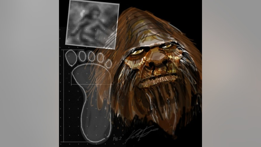 An artist's interpretation of Bigfoot.