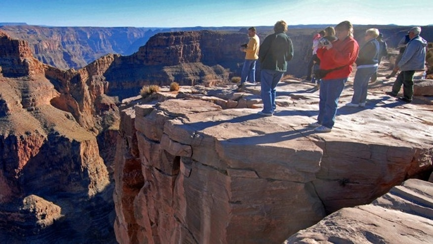 Dec. 7, 2006: Tourists visit the Hualapai Indian Reservation along the western end of the Grand Canyon, which may have formed as much as 70 million years ago.