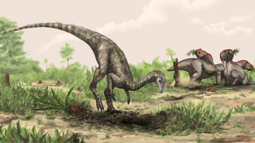Artist rendering of Nyasasaurus parringtoni, either the earliest dinosaur or the closest dinosaur relative yet discovered. Nyasasaurus parringtoni was up to 10 feet long and weighed perhaps 135 pounds.