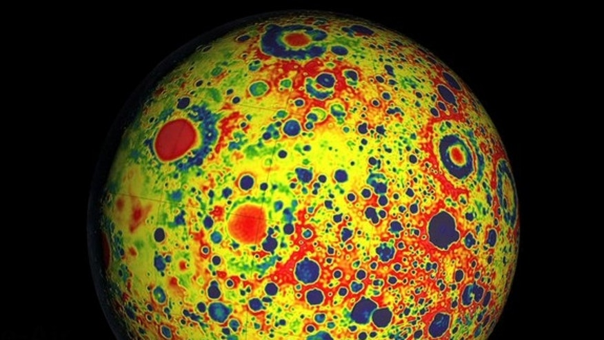 NASA's Gravity Recovery and Interior Laboratory (GRAIL) made this new high-resolution map of the moon's gravity field.
