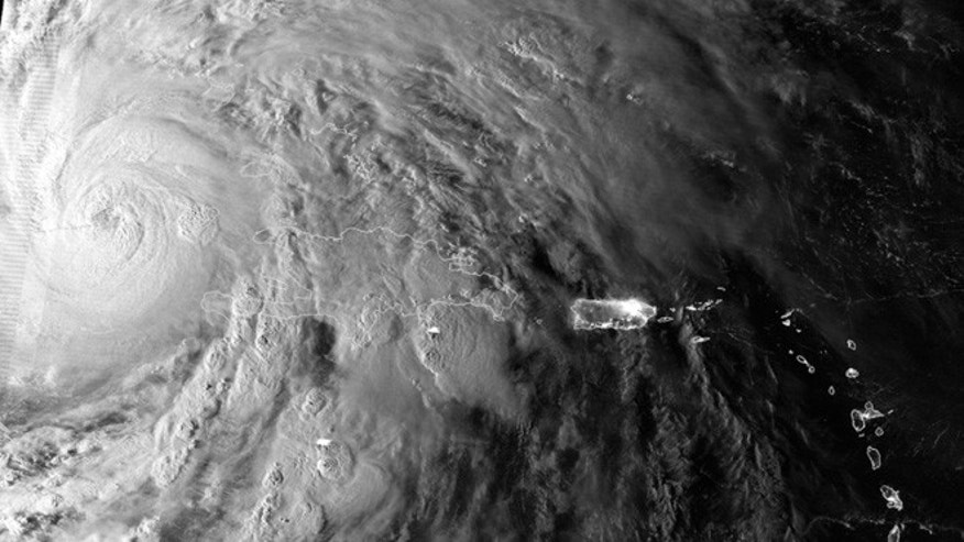 Oct. 25, 2012: The Suomi NPP satellite caught this image of Hurricane Sandy just as the cyclone passed over Cuba.