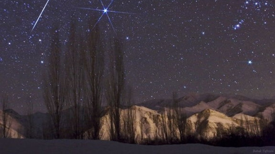 Astrophotographer Babak Tafreshi caught this Geminid meteor in 2009.