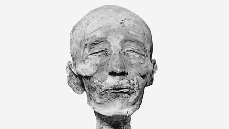 The mummy of Merneptah was encased in a series of four sarcophagi, set one within the other. After his tomb was robbed, more than 3,000 years ago, he was reburied elsewhere and his two outer sarcophagi broken.