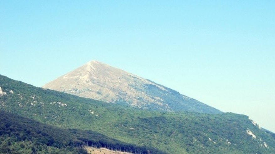 The pyramidal peak of Mount Rtanj in Serbia.
