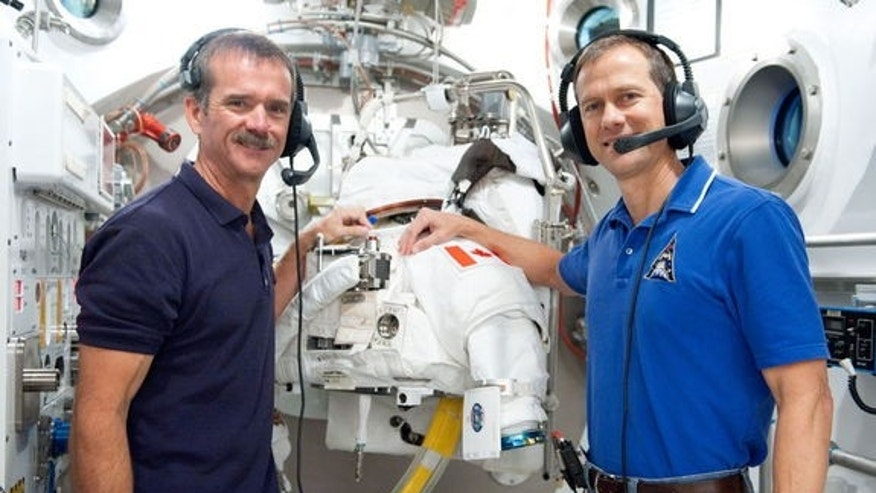 Expedition 34's Chris Hadfield (left) and Tom Marshburn will be the latest astronauts to perform Canadian aging research in space.