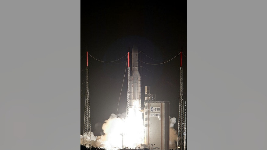The Skynet 5D and Mexsat Bicentenario satellites were lofted on the heavy-lift Ariane 5 launcher's 53 consecutive successful mission.