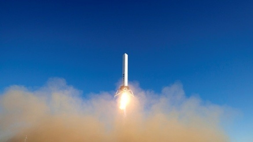 The SpaceX Grasshopper rocket prototype vertically launched and landed in its most impressive test flight to date on Dec. 17.