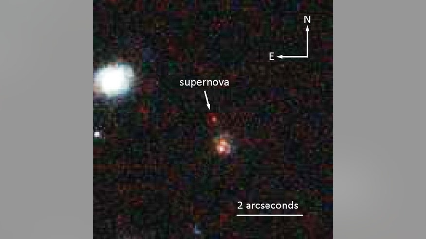 Supernova SCP-0401, which is about 10 billion light-years from Earth, was spotted by the Hubble Space Telescope in 2004 but could not be positively identified until after the 2009 installation of a new camera that acquired more data.