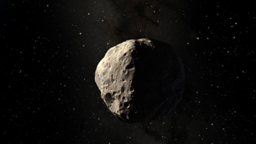 An artist's rendering of the asteroid Apophis.