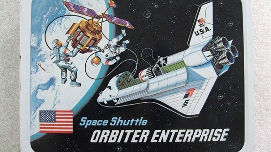 This space shuttle Enterprise lunchbox, circa 1977, is among the pop culture artifacts going on display at the Intrepid Sea, Air and Space Museum as part of a new Enterprise exhibition.