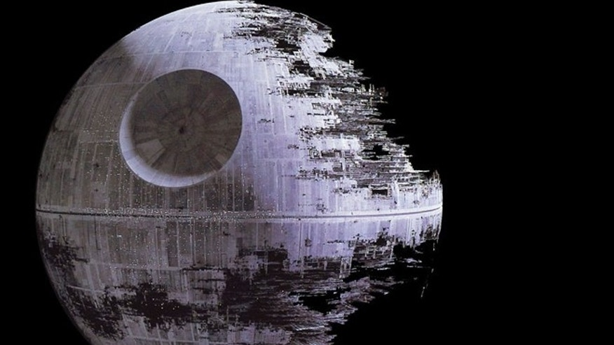 "The Death Star, a planet-sized gun built by Darth Vader and the Empire in George Lucas's science fiction series ""Star Wars."""