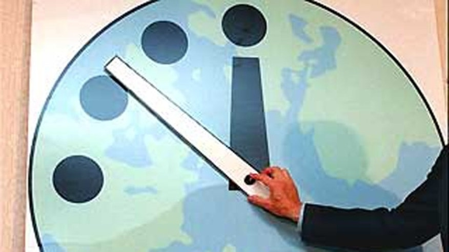 The Doomsday Clock is shown in 1998.