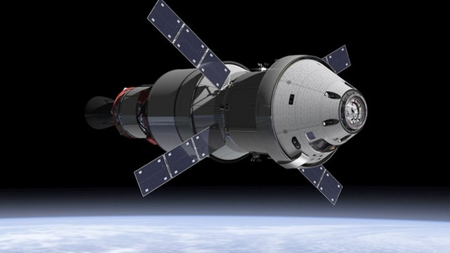 Jan. 16, 2013: An artist's concept of the Orion Service Module. When the Orion spacecraft blasts off atop NASA's Space Launch System rocket in 2017, attached will be the ESA-provided service module  the powerhouse that fuels and propels the Orion spacecraft.