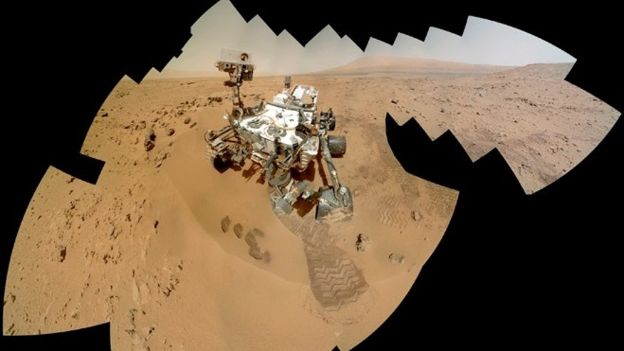 A color self-portrait of the Mars rover Curiosity, which is set to drive toward a Martian mountain in mid-February after drilling into a rock.