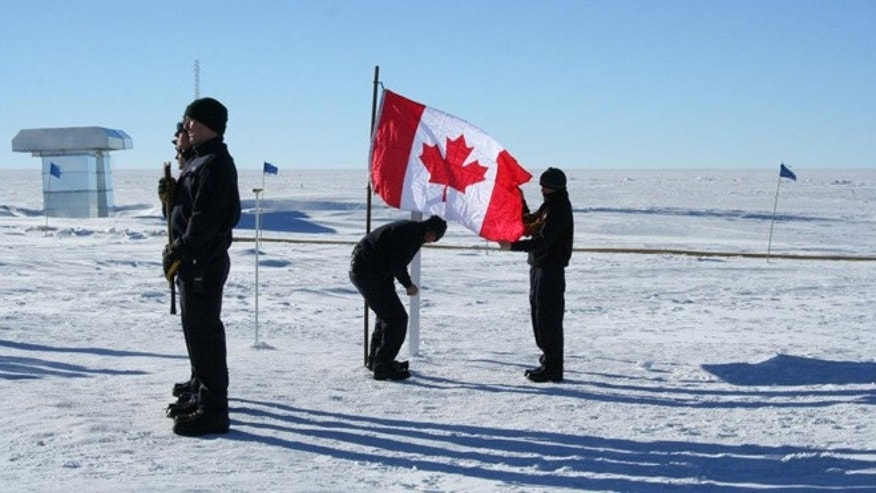 A memorial ceremony for the aircrew at NSF's Amundsen-Scott South Pole Station.