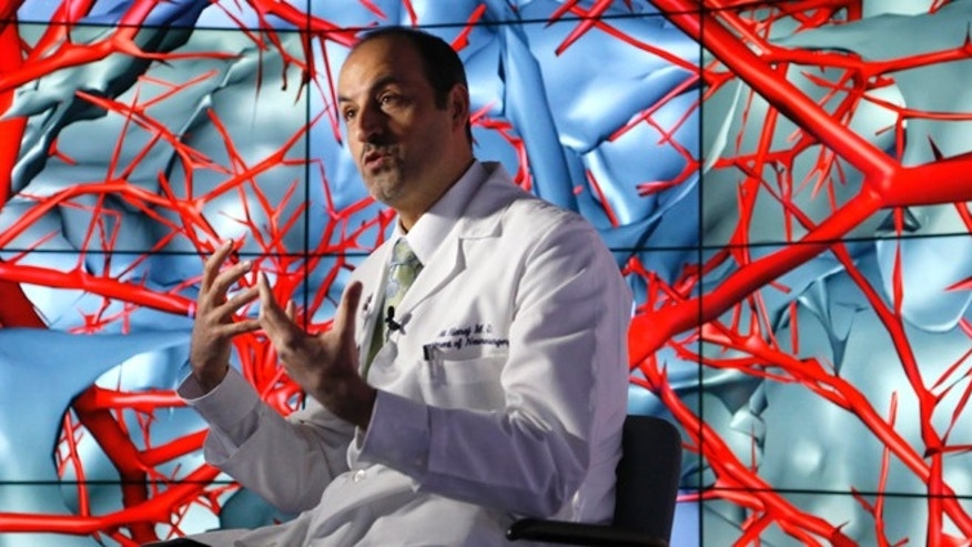 Jan. 24, 2013: Brain surgeon Ali Alaraj talks about the first time he viewed the brain using the CAVE2. You can walk between the blood vessels, said the University of Illinois College of Medicine neurosurgeon. You can look at the arteries from below. You can look at the arteries from the side.""
