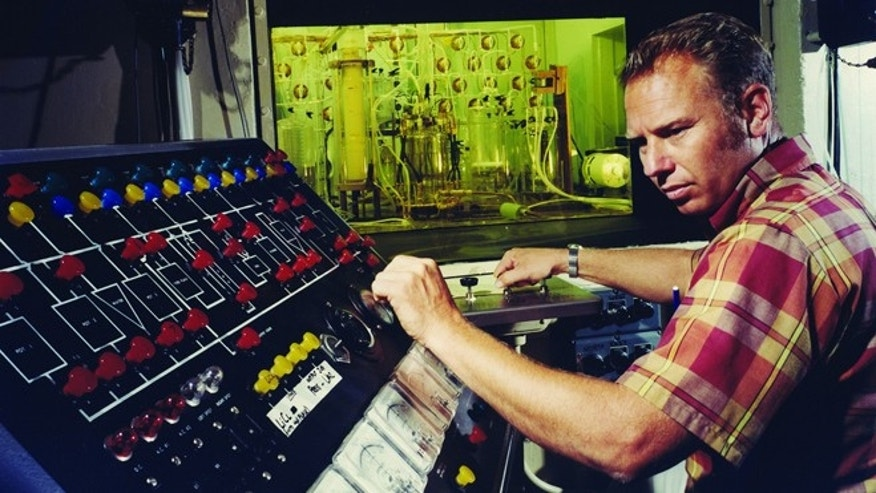 Wes Hayes works with hot cells after a controlled nuclear test at Lawrence Livermore in 1969 called The Hutch Event. In the experiment, a specially designed nuclear device was used to produce extraordinarily large quantities of rare, heavy isotopes, which were analyzed at the Laboratory.