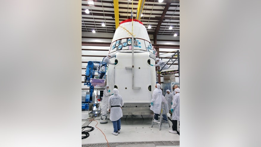 The spacecraft will launch on the upcoming SpaceX CRS-2 mission. The flight will be the second commercial resupply mission to the International Space Station by SpaceX. This image was released Jan. 14, 2013.