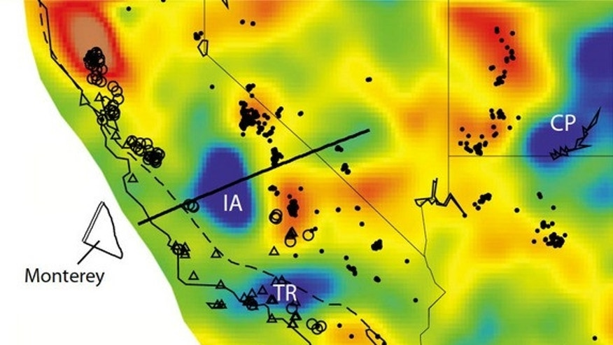 The Isabella anomaly in California is in line with known remnants of the long-gone Farallon plate.