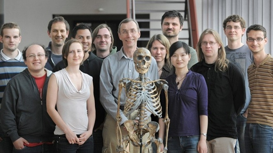 The Neandertal research group at the Max Planck Institute.