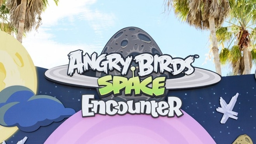 March 22, 2013: The main entrance to Angry Birds Space Encounter at the Kennedy Space Center Visitor Complex in Cape  Canaveral, Fla.