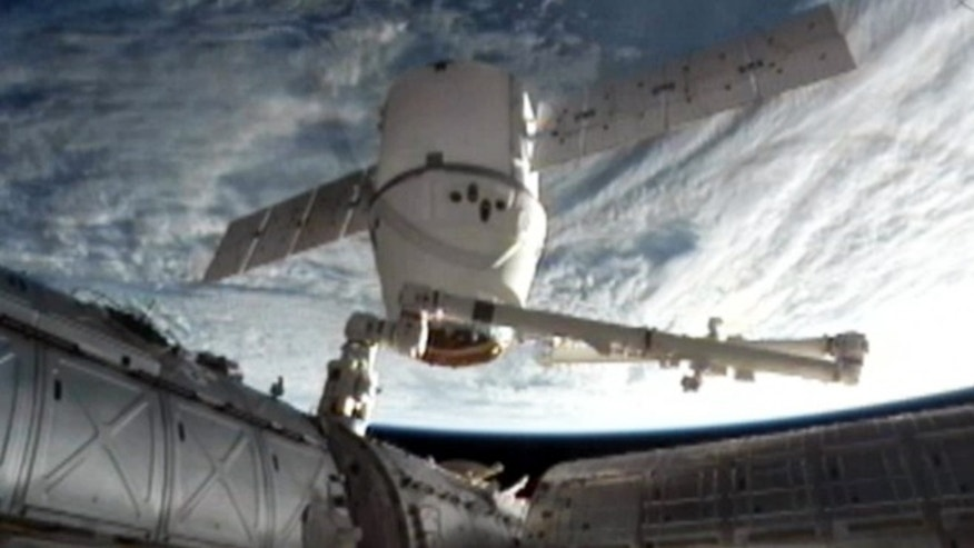 March 26, 2013: The SpaceX Dragon commercial cargo craft as it is backed away from the International Space Station.