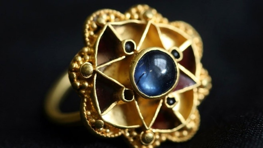A unique piece of jewelry called the Escrick Ring is only the second known use of a sapphire in jewellery found in the country, the first being a 5th century Roman example. It was found with a metal detector in 2009.