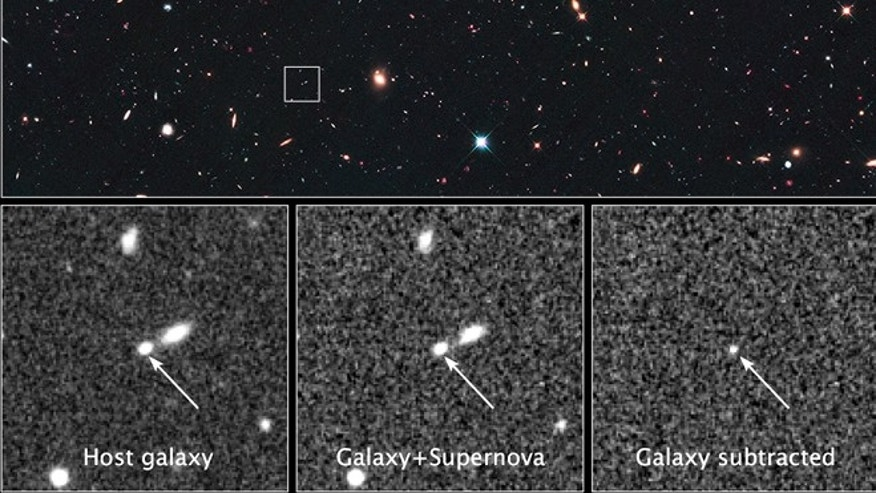 Hubble spies most distant star explosion ever | Fox News
