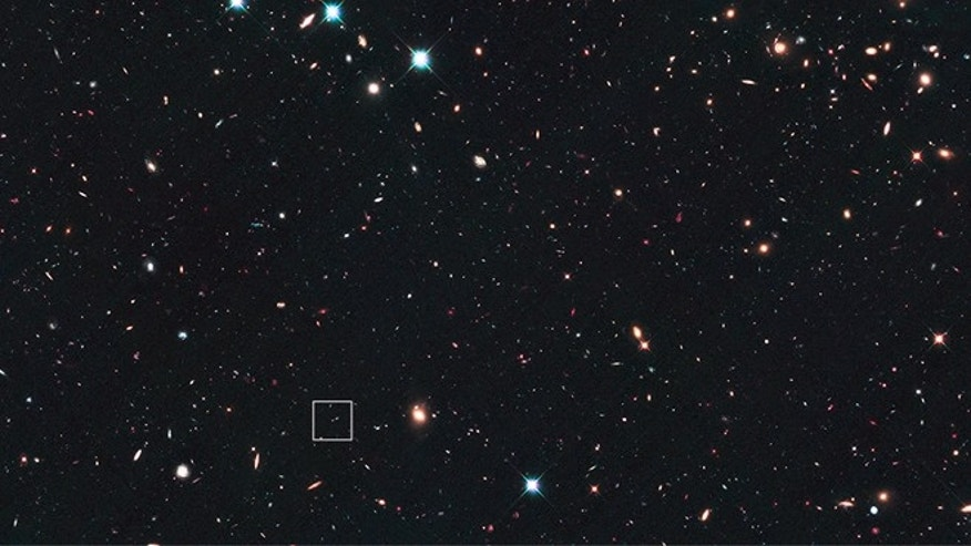 This image shows the Hubble Space Telescope's view of Supernova UDS10Wil more than 10 billion years ago.
