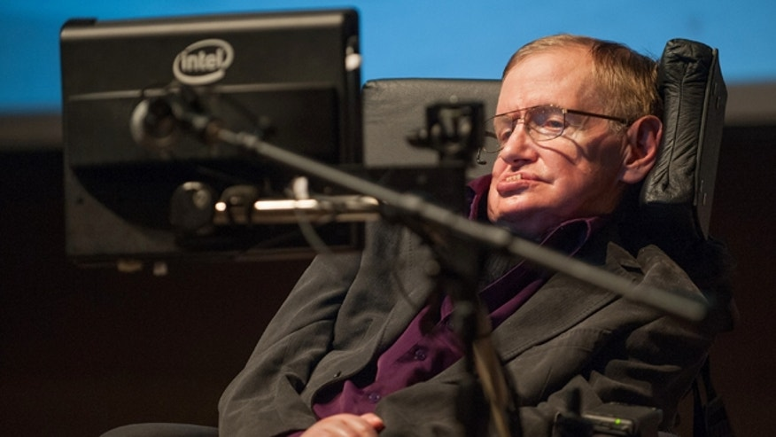 April 9, 2013: British cosmologist Stephen Hawking, who has motor neuron disease, gives a talk titled  &quot&#x3b;A Brief History of Mine,&quot&#x3b; to workers at Cedars-Sinai Medical Center in Los Angeles.