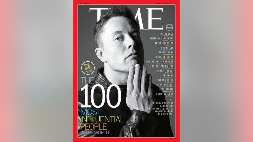 Time Magazine recognized 8 leaders from science in its list of 100 most influential people, including SpaceX CEO Elon Musk.