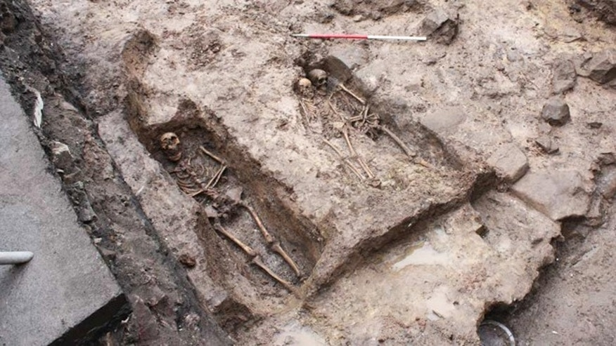 The burial crypt contained seven complete and one partial skeleton.