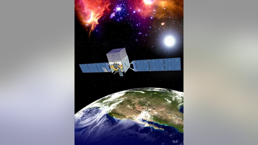 Artist's illustration of NASA's Fermi Gamma-ray Space Telescope.