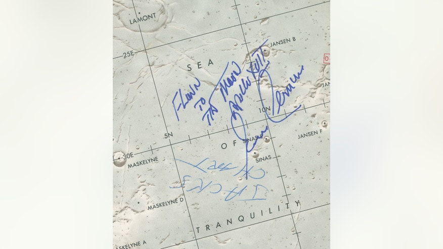 map of neil armstrong where he explored - photo #20