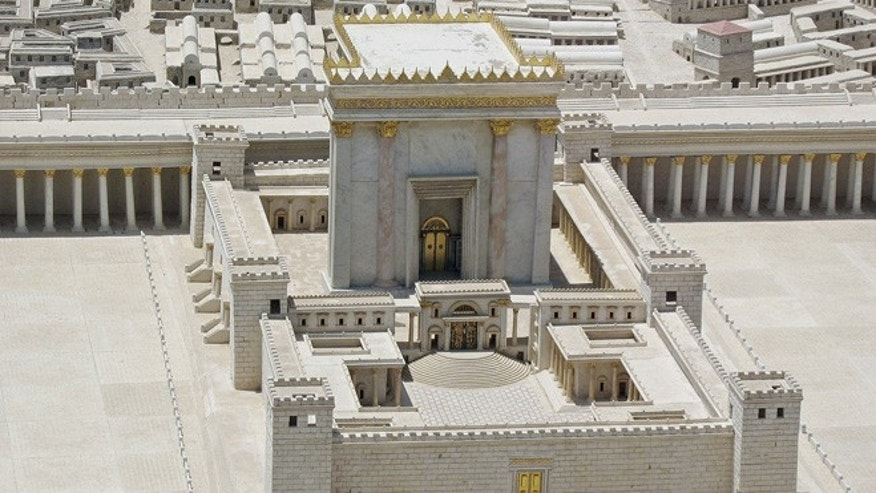A model of King Herod's Second Temple from the Israel Museum, an important historical site for Judaism.