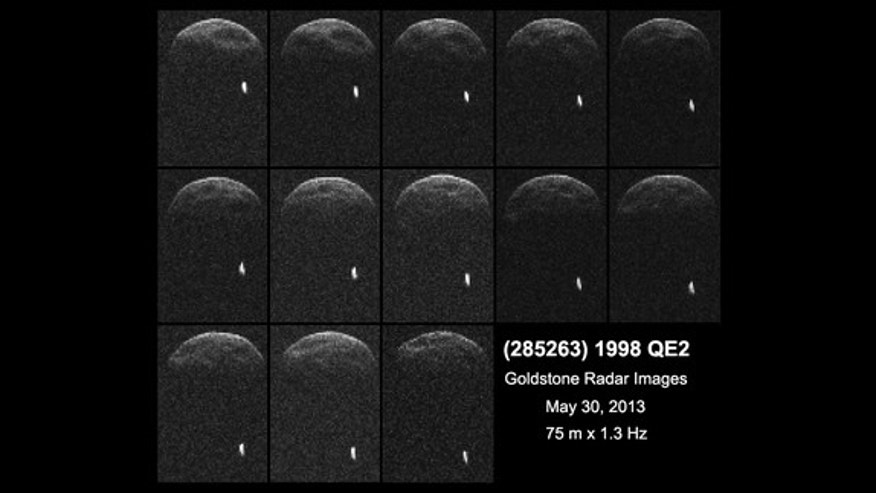 First radar images of asteroid 1998 QE2 were obtained when the asteroid was about 3.75 million miles (6 million kilometers) from Earth.