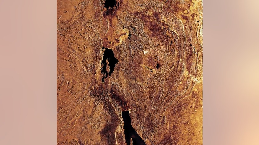 This radar image highlights portions of three of the lakes located in the Western Rift of the Great Rift Valley, a geological fault system of Southwest Asia and East Africa: Lake Edward (top), Lake Kivu (middle) and Lake Tanganyika (bottom).