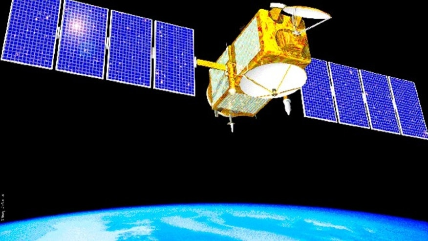 This undated artist's rendering shows the Jason-1 satellite. The U.S.-French science satellite that tracked rising sea levels for more than a decade and helped forecasters make better weather predictions worldwide has gone dark.