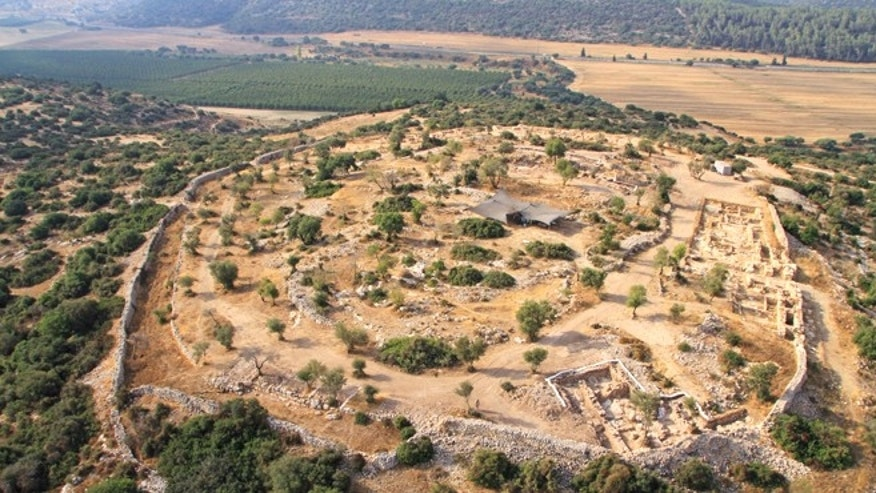 An aerial picture of the site archaeologists believe to be one of King David's palaces.