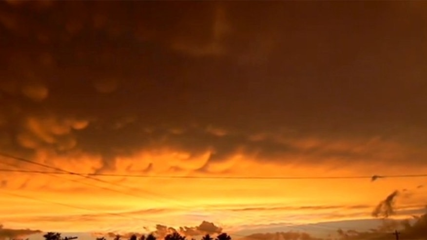 Jason Asselin captured Mammatus clouds on video hovering over Michigan.
